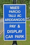 Bi-Lingual panel sign